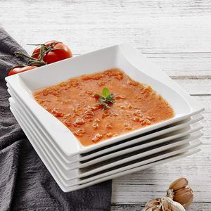 Image 1 - MALACASA Carina, assiettes à dîner en céramique, cuisine profonde, 6 pièces, assiettes à soupe, assiettes à fruits pour la salade, 6 pièces, 8 pouces, céramique, crème