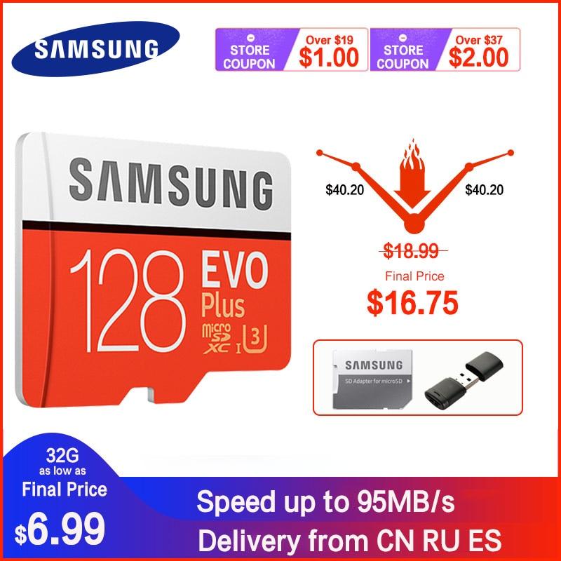 SAMSUNG карта памяти Micro SD карты 256 ГБ 32 ГБ 64 Гб карты памяти Microsd карта Micro SD 128 ГБ 512G SDHC/SDXC класса EVO + C10 UHS TF флеш-карты памяти SD карты
