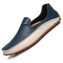 Hommes chaussures bateau mocassins cuir hommes mocassins léger baskets italien respirant Slip-on chaussures de conduite décontractées hommes taille 47