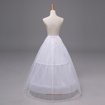 2 Hoops Petticoat Crinoline Slip Underskirt For Wedding Dress Bridal Gown Bridal Party Accessories 2019 2018 new hot sell 6 hoops big white petticoat super fluffy crinoline slip underskirt for wedding dress bridal gown in stock