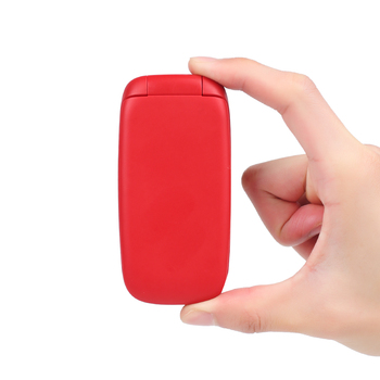 USHINING Red Flip Mobile Phone Big Button Easy to Use,SIM Free Unlocked,Classical & Durable for elderly