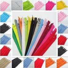 20 piezas 3 #7,5-25CM (3-10 pulgadas), cremallera de bobina de nailon cerrada, proceso de costura a medida, disponibles