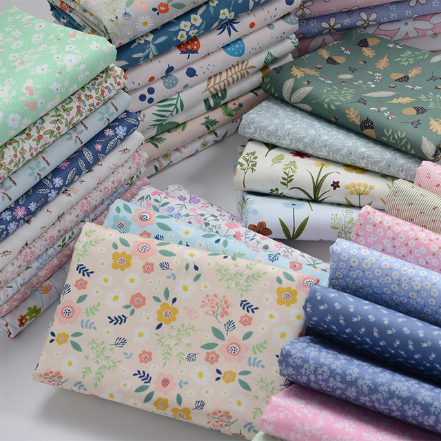 100% Cotton Fabric Kids Cotton Patchwork Cloth DIY Sewing Quilting Fat Quarters Material For Baby&Child 2