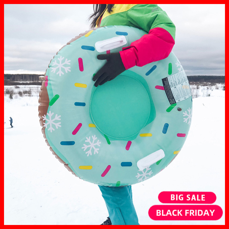 New Style Thick Wear-Resistant Inflatable Ski Circle Adult Children's Snow Flying Dish Circle Skis