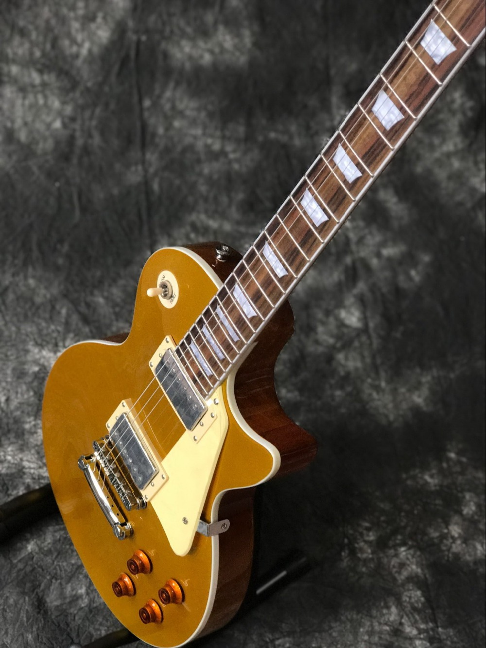 Classic Custom gold top with Chrome hardware LP standard custom electric guitar Standard Chibson guitarra.musical instruments.199 (3)