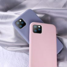 For iPhone 11 Case Liquid Silicone Candy Color TPU Pro Max 2019 X XR XS 6 7 6s 8 Plus