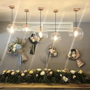 Image 5 - بلوبل العجائب الحديثة ارتفع الذهب كرة زجاجية نقية قلادة تسليم ضوء المصباح بريق LED زجاج الكرة بار المطبخ جودة عالية