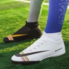 MWY, мужские высокие футбольные ботинки для поезда, классические Футбольные бутсы на плоской подошве TF, женские кроссовки, легкие детские футбольные бутсы для помещений