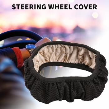 Universal Soft PU Leather Auto Car Steering Wheel Cover With Needles and Thread Skid-Proof Car Steering Wheel Protector Hot Sell image