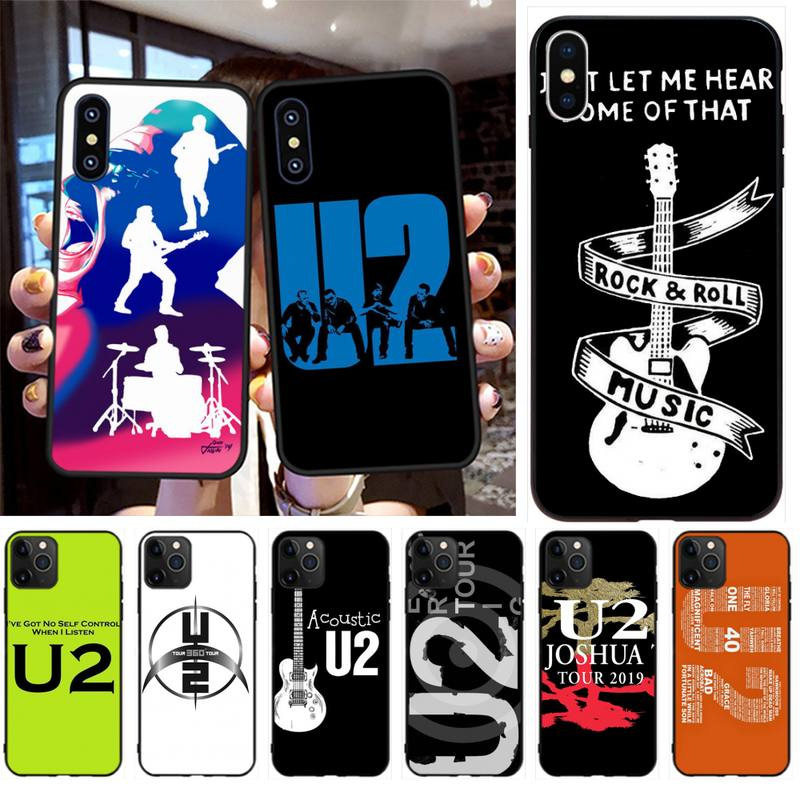NBDRUICAI rock music U2 Irish Soft Silicone TPU Phone Cover for iPhone 11 pro XS MAX 8 7 6 6S Plus X 5S SE XR case image