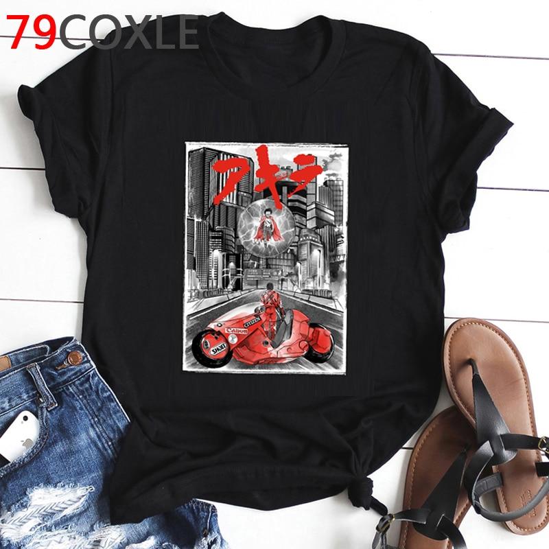 Fashion Akira Anime T Shirt Men Neo Tokyo Street Race Funny Cartoon T-shirt Aesthetic Graphic Summer Tshirt Hip Hop Top Tee Male