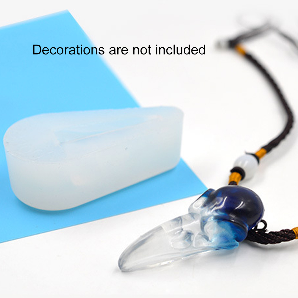 Durable Accessories Jewelry Making Crow Skull Reusable Multifunction Non Stick DIY Hand Craft Silicone Mold 3D Tool Pendant