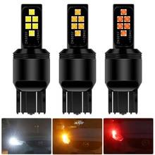 2x Canbus No Error T20 7443 W21/5W LED Light Bulb For Skoda Superb Octavia 2 FL 2011 2012 2013 White DRL Daytime Running Lights