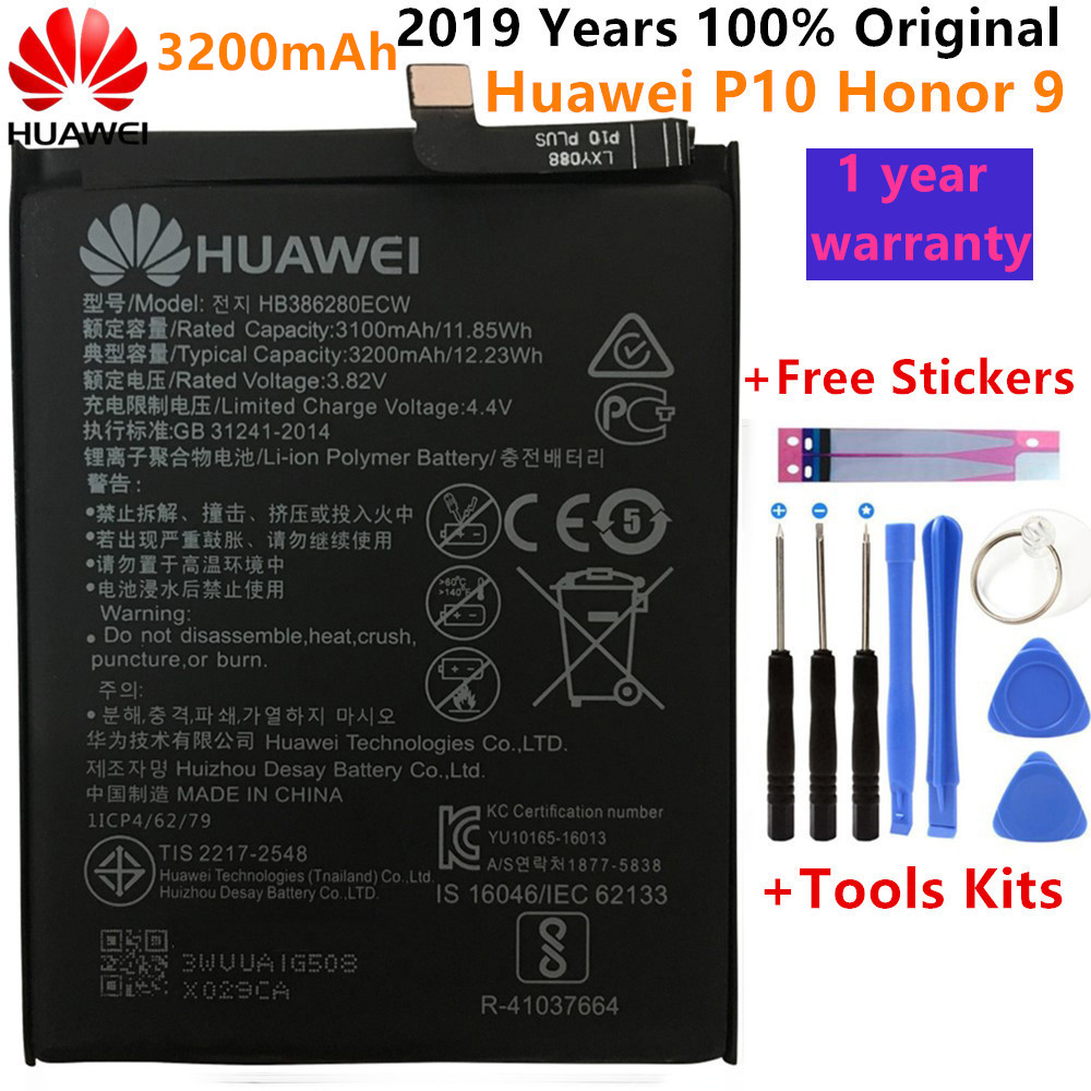Hua Wei Replacement Phone <font><b>Battery</b></font> HB386280ECW 3200mAh <font><b>Battery</b></font> For <font><b>Huawei</b></font> Honor 9 STF-L09 STF-AL10 For <font><b>Huawei</b></font> <font><b>P10</b></font> 5.1