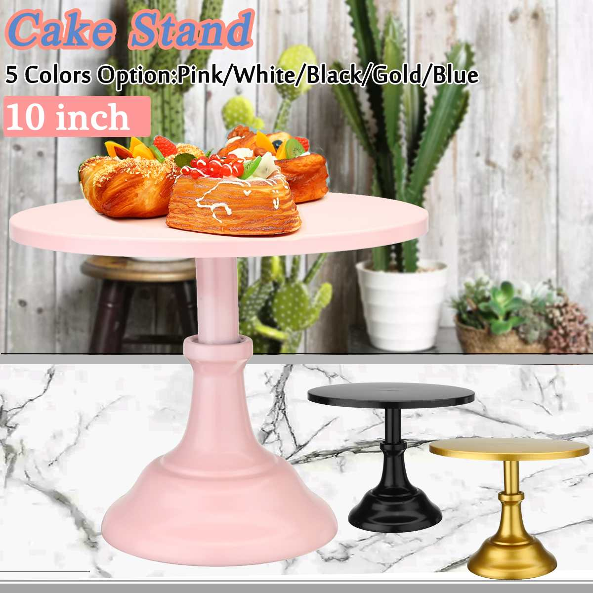 10 inch 5 Colors Grand baker cake stand wedding cake tools adjustable height fondant cake display accessory for party bakeware
