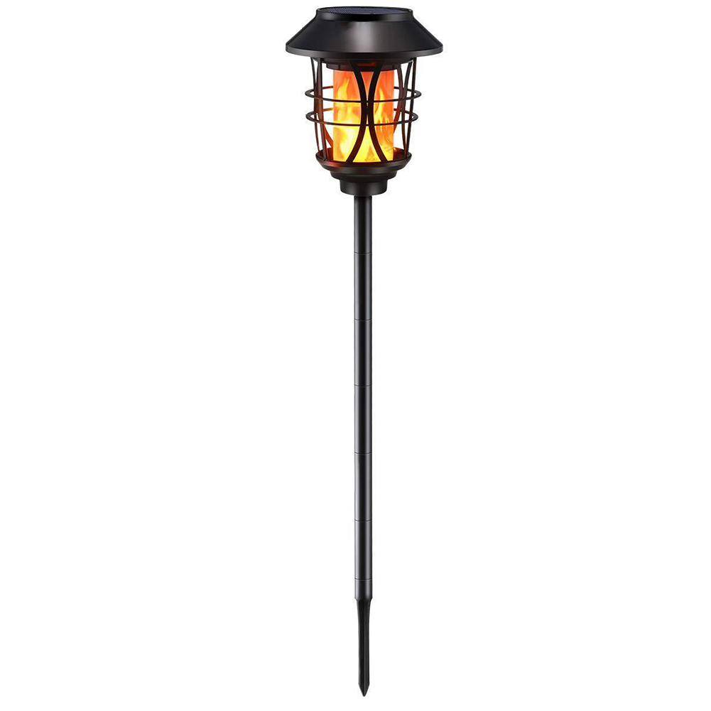 Pathway Yard Flame Lamp Solar Powered Garden Automatic Torch Shape Flickering Led Landscaping Adjustable Height Waterproof|Solar Lamps| |  - title=