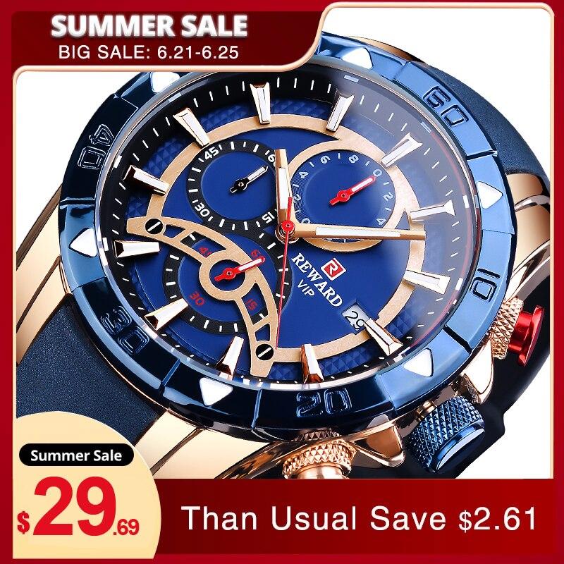 Темно-синие мужские наручные часы от топ бренда, Роскошные Модные двойной Дисплей Водонепроницаемый часы кожаный чехол и силиконовый ремеш...