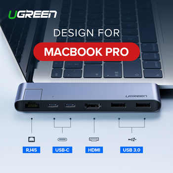 Ugreen USB C HUB Dual Type C to Multi USB 3.0 HDMI for MacBook Pro Adapter Thunderbolt 3 Dock USB-C 3.1 Splitter Port USB-C HUB - DISCOUNT ITEM  25% OFF All Category