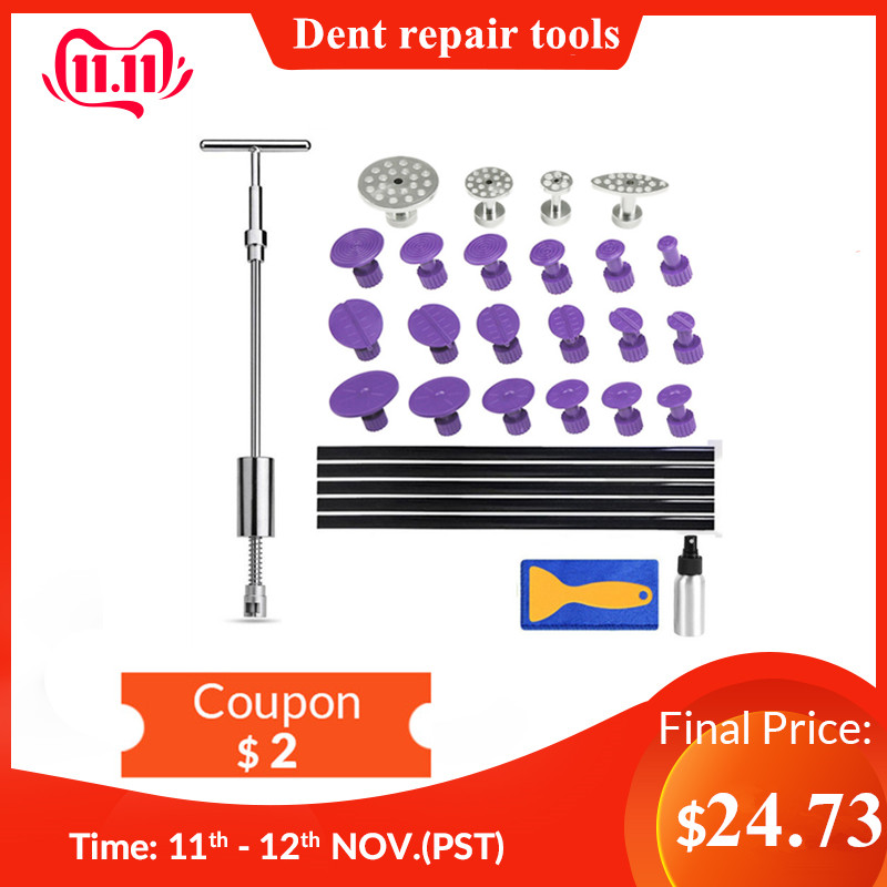 PDR Tools Pdr Paintless Dent Repair Tools Hand Set Home DIY Removal Kit Reverse Hammer Tabs Metal Tools For Car Machines Dent