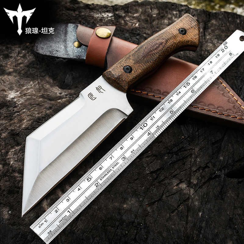 Voltronoutdoor knife wild survival saber camping hunting survival straight knife bushcraft High hardness self-defense image