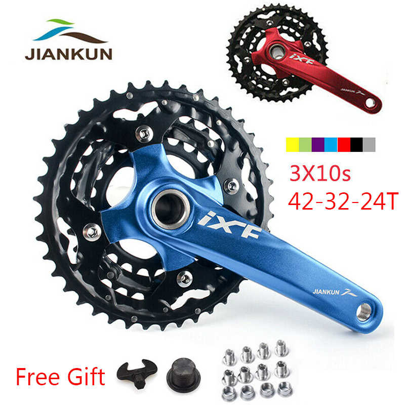 JIANKUN 104BCD 64BCD Single//Double//Triple 170mm MTB Bike Chainset Crank set BB