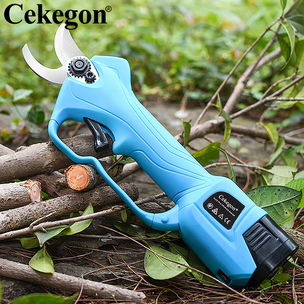 Cordless Efficient Ion Tree Cekegon Electric Landscaping Shear Lithium Branches Bonsai Tree Pruning Fruit Pruning Cutter Pruner