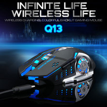 Computer Mouse Charging-Gaming-Mouse Optical-Mechnical Wireless 2400DPI 6-Buttons Silence