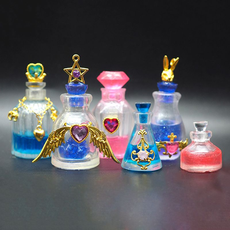 Silicone Mold DIY Perfume Bottle Glass Bottles Medicine Liquid Bottle Molds Epoxy Resin Crafts Decoration Handmade Gifts Product