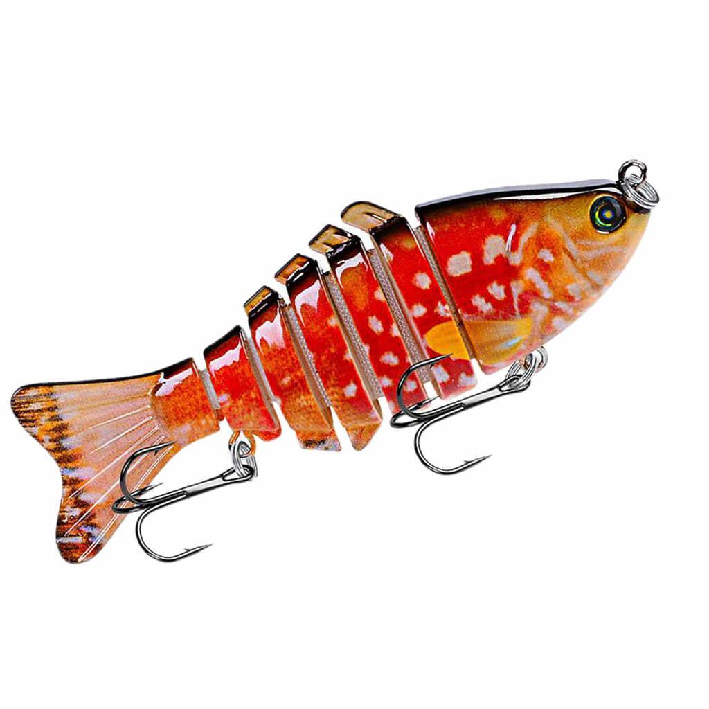 100 ミリメートルリアルな釣り接合ルアー 6 # フック低音スケトウダラためサーモンナマズミカン魚淡水海水