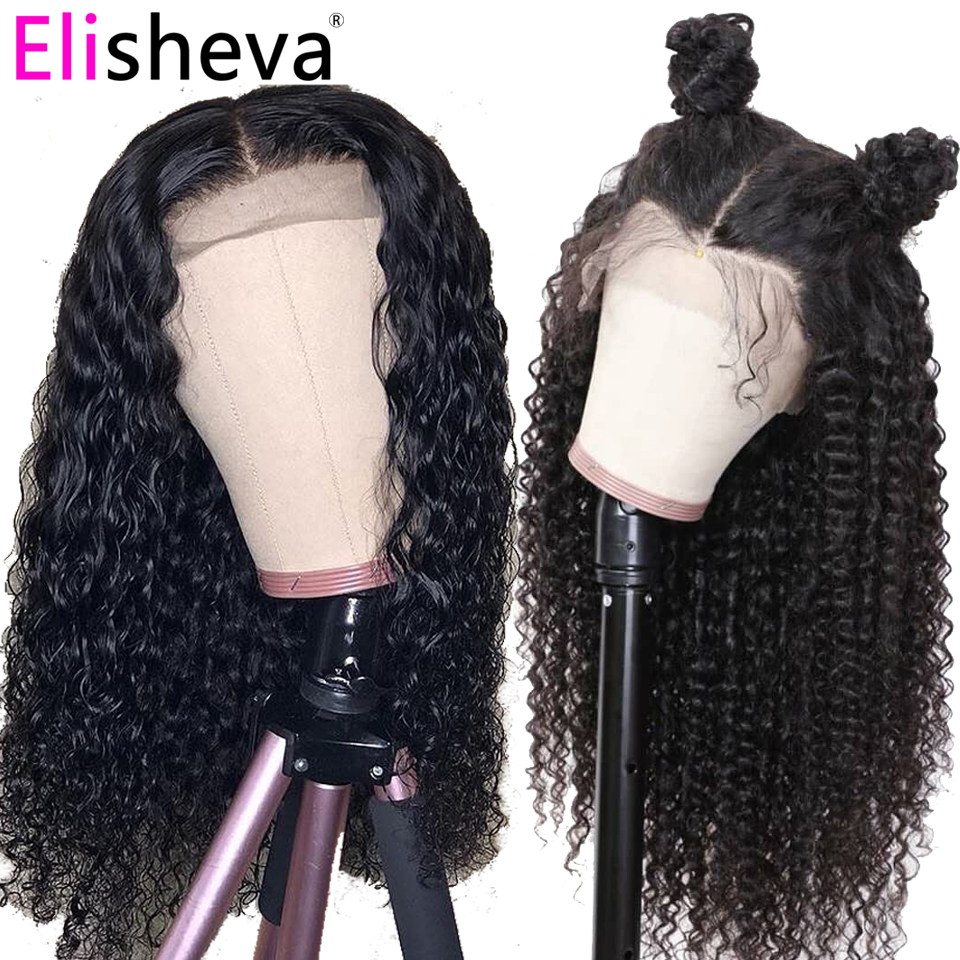 HD Transparent Lace Curly Wig Long Lace Front Human Hair Wigs 13x4 Malaysian Remy Natural Bleached Knots 150 Density Glueless