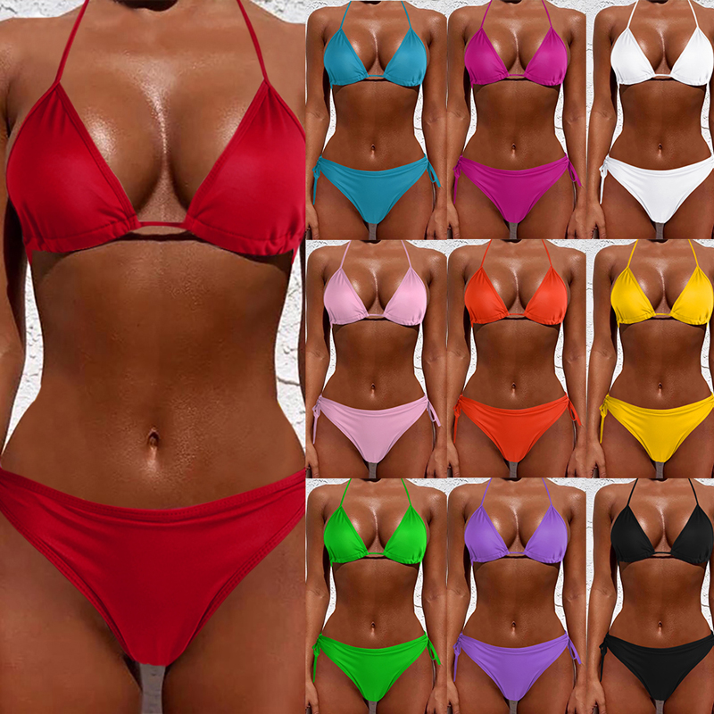 2021 Hot Sale New Sexy Bikini Women Sexy Swimwear Two Pieces Swimsuit Brazilian Mini Swimsuit Bathing Suits Beach Wear Swimming
