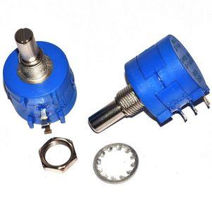 3590S 10K ohm Precision Potentiometer Multiturn Resistor 10 Ring Adjustable Resistor 3590S-2-103L 10K ohm 20K 50K Potentiometers(China)