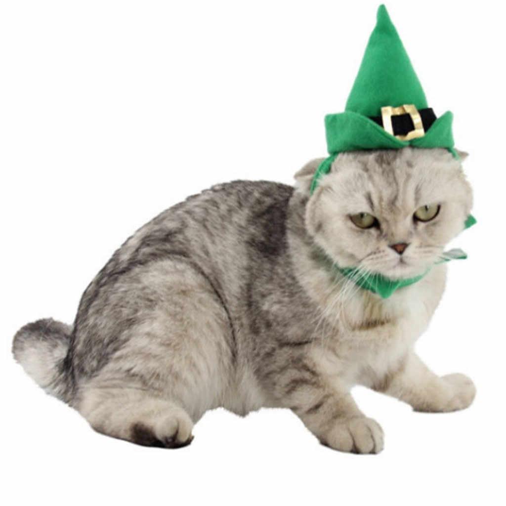 クリスマス犬の首輪サンタクロースクリスマスツリーパターン犬スカーフソフト綿ペット調節可能な猫首輪犬のアクセサリー 64 1080P