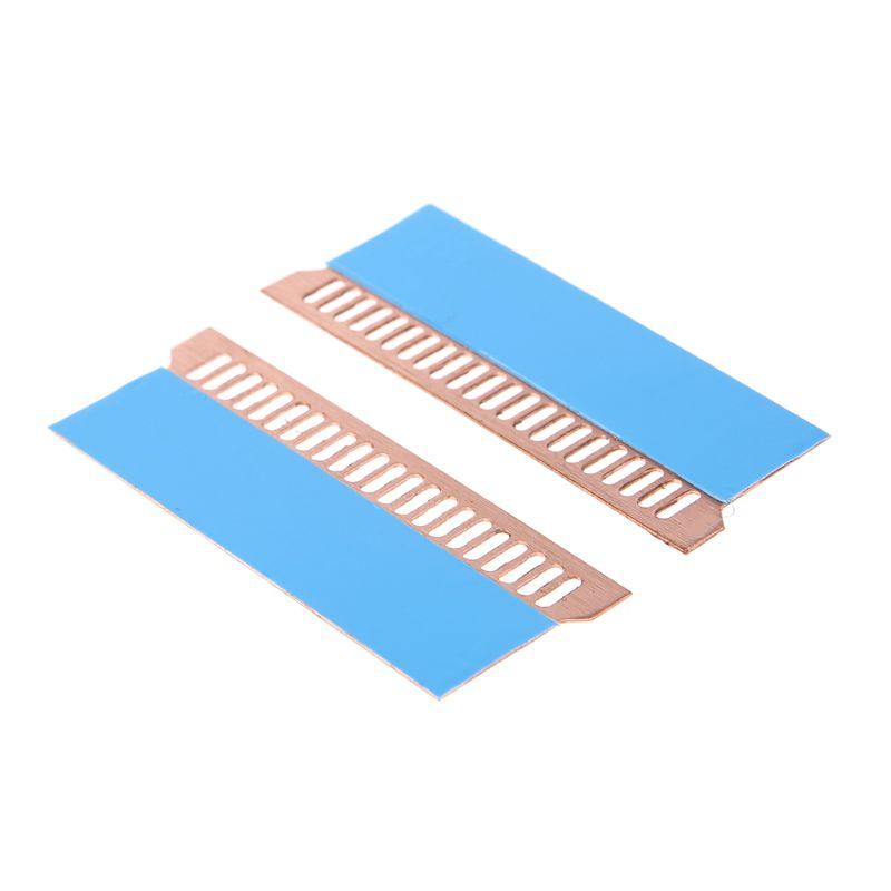 2Pcs Copper Notebook Gaming Laptop Memory Heatsink Cooling Vest 0.5mm Radiator K1AA