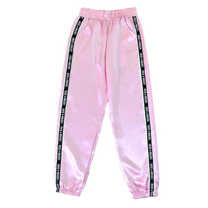 Dihope Big Pocket Satin Highlight Harem Pants Women Glossy Sport Ribbon Trousers BF Harajuku Joggers Women's Sports Pants(China)