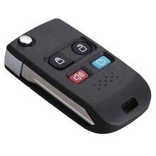 1 шт складной чехол портмоне 4 кнопки дистанционный ключ брелок