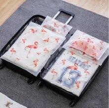 Transparent Travel Flamingo Storage Bag Waterproof Seal Bag Clothing Travel Luggage Clothes Packing Bag Cute Drawstring Bag