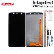 Alesser dla Leagoo Power 5 wyświetlacz LCD i ekran dotykowy naprawa części z narzędziami i klejem do Leagoo Power 5 + futerał silikonowy