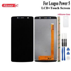 Image 1 - Alesser dla Leagoo Power 5 wyświetlacz LCD i ekran dotykowy naprawa części z narzędziami i klejem do Leagoo Power 5 + futerał silikonowy
