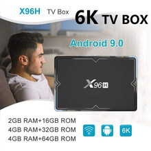 2020 New X96H Android 9.0 Set Top Box Quad Core media player PK HK1 H96 MAX A95X Mini Smart TvBox(China)