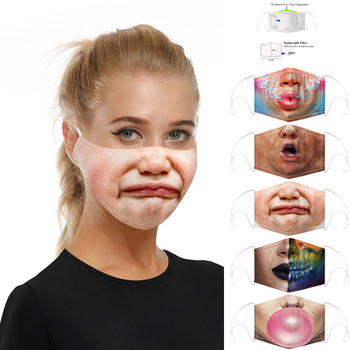 Customized Kpop Funny Print Mask Reusable PM2.5 Filter Anti Dust Anti Flu Face Mouth Breathbale Protective Masks For Women Men