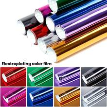 8 Warna Chrome Cermin Fleksibel Film Vinyl Wrap Lembar Film Gulung Stiker Merenggang Reflektif Super Gloss Mobil Stiker Decal Lembar(China)