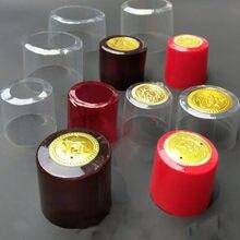 100X PVC butelka wina folia termokurczliwa uszczelniona termokurczliwa taśma pokrywająca plastikowa czapka kapsułki na domowe warzelnictwo wino piwo likier protect