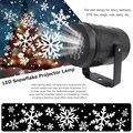 Новый Рождественский светодиодный прожектор в виде снежинок, лазерный светильник, белая Снежинка, пейзаж, лампа для праздника, дома, вечерн...