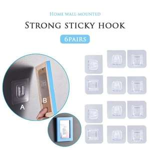 Wall-Hooks Sucker Suction-Cup Adhesive Bathroo Double-Sided Strong Transparent Kitchen