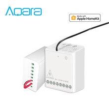 Schnelle schiff Aqara Eigenstone Zwei weg control modul Drahtlose Relais Controller 2 kanäle Arbeit Für smart home APP Hause kit