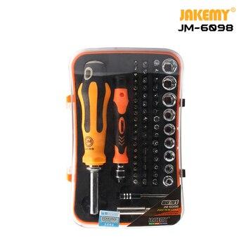 JAKEMY JM-6098 66 in 1 Professional kit Multifunctional precision  Repair tool CR-V Household Electronics DIY  Screwdriver Set
