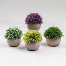 Лидер продаж, комбинированное полусферическое растение из целлюлозы, имитация бонсая, домашнее растение decore, аксессуары для украшения гост...