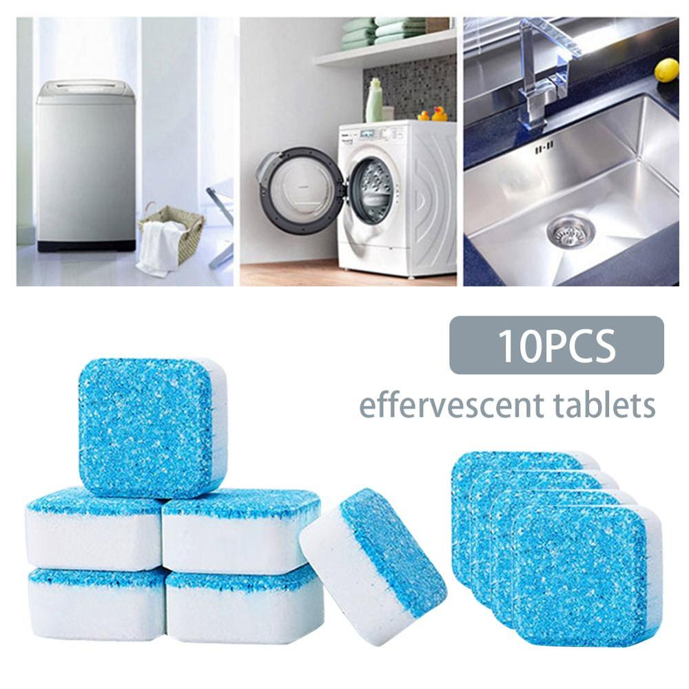 10Pcs Washing Machine Cleaner Washer Cleaning Antibacterial Washing Machine Cleaner Laundry Soap Detergent Magic Cleaner