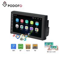 Podofo Car radio 2 din 7'' Android 8.1 IOS/Android mirror link touch screen with Bluetooth WIFI GPS FM Radio Support Rear Camera
